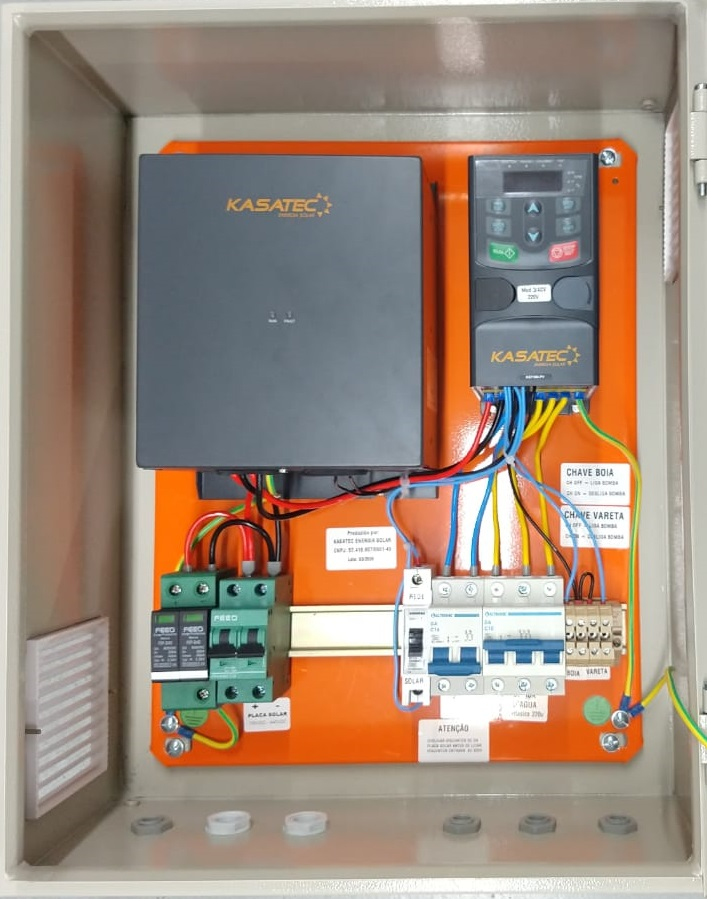 Quadro Bombeamento Solar 0,75kw-3/4cv Trif 220V - Boost