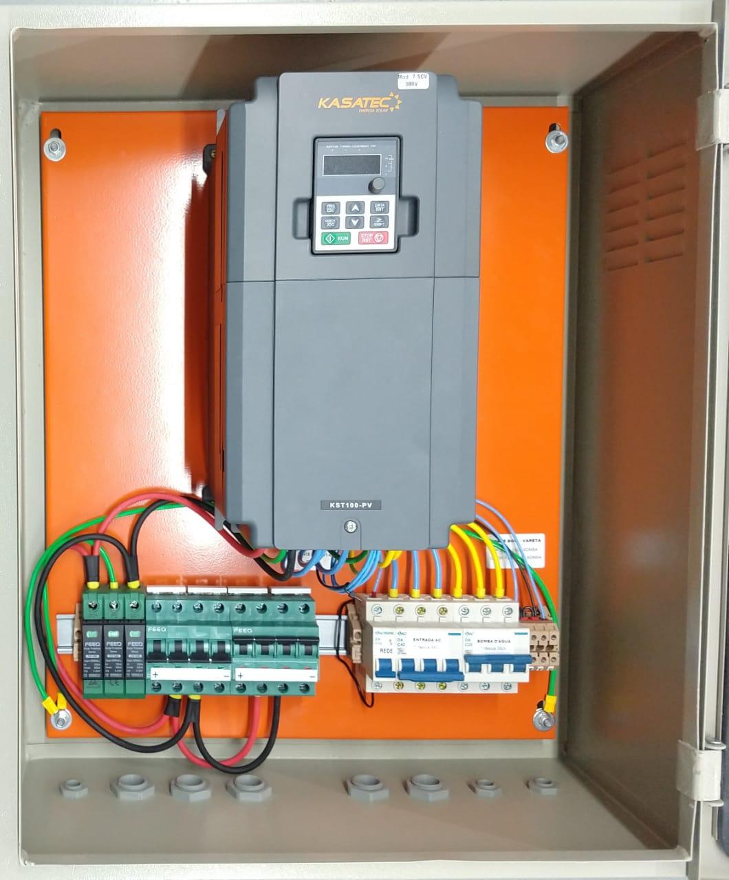 Quadro Bombeamento Solar com Inversor 7,5kw para Bomba até 7,5cv/ Trif 380V