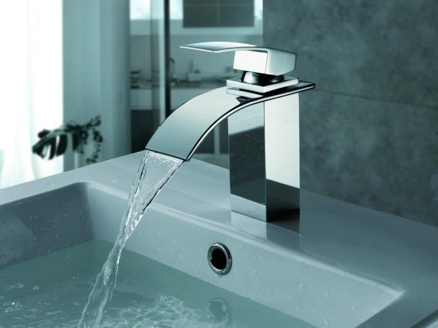 Torneiras Banheiro Luxo em Casa  Lustres, Pendentes, Torneiras e Chuveir -> Torneira Para Pia De Banheiro Com Sensor