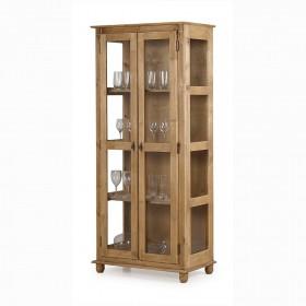 Cristaleira Lateral com 2 portas de vidro e 3 prateleiras - 301