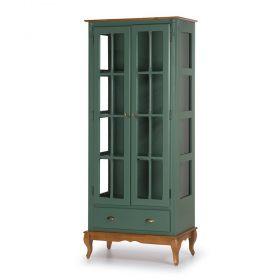 Cristaleira Lateral de Vidro com 2 portas, 1 gaveta e 3 prateleiras Hannover - M560808