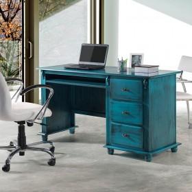 Escrivaninha Antique 3 gavetas com Divisor de Ambientes - 605