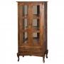 Cristaleira Antique Alta Lateral com 2 portas de vidro e 1 gaveta - 1001E