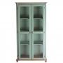 Cristaleira Lateral com 2 portas de vidro - Verde Musgo 301