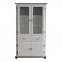 Cristaleira Lateral com 2 portas madeira, 2 portas vidro, 1 gaveta e 2 prateleiras - 308