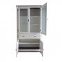 Cristaleira Lateral com 2 portas madeira, 2 portas vidro e 1 gaveta - Branco 308