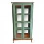 Cristaleira Luiz XV Espelhada - Verde Musgo e Imbuia 1087E