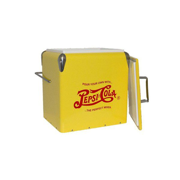 Cooler Antique Amarelo Pepsi Emmetal 37x30x24cm