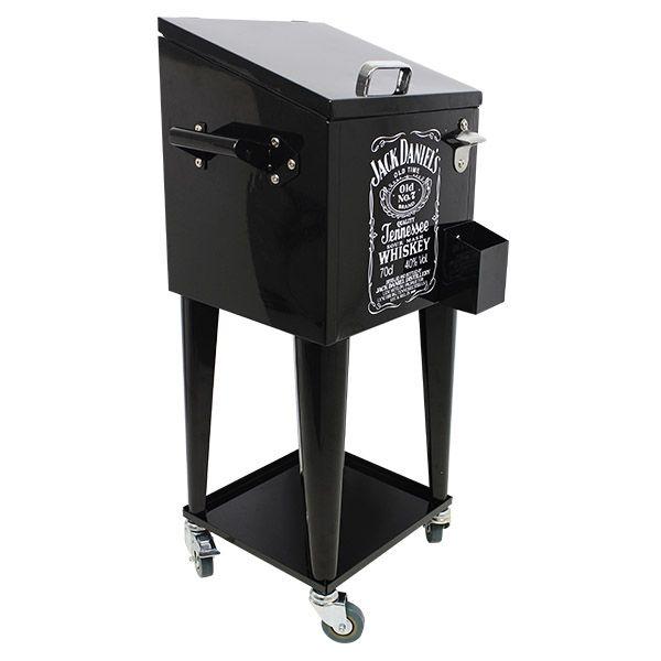Cooler Antique Jack Daniels c/ Rodízio Preto 89x36x31cm