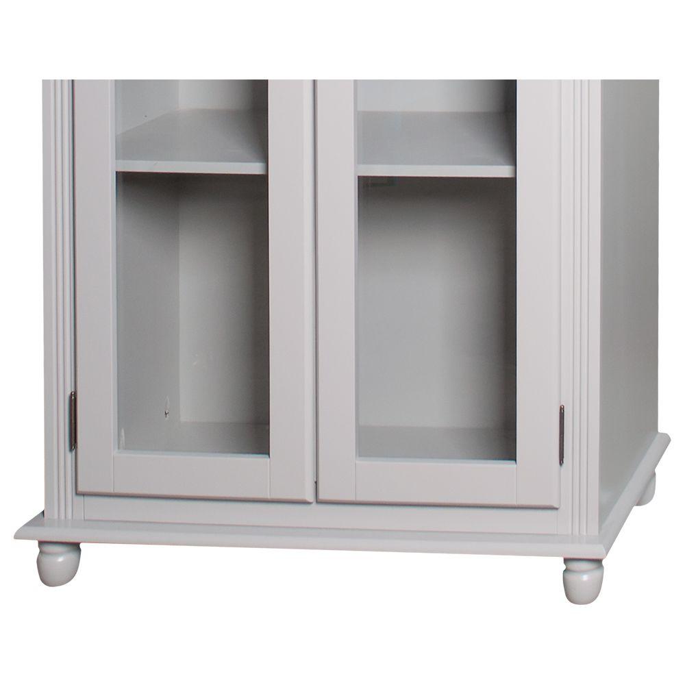 Cristaleira Lateral 2 Portas Vidro 3 Prateleiras - M550300