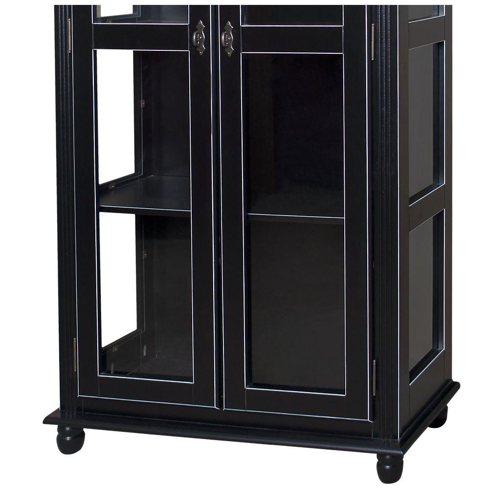 Cristaleira Lateral 2 Portas Vidro 3 Prateleiras - M550301