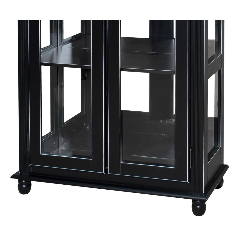 Cristaleira Lateral com Espelhos, 2 portas de vidro e 3 prateleiras - 301E