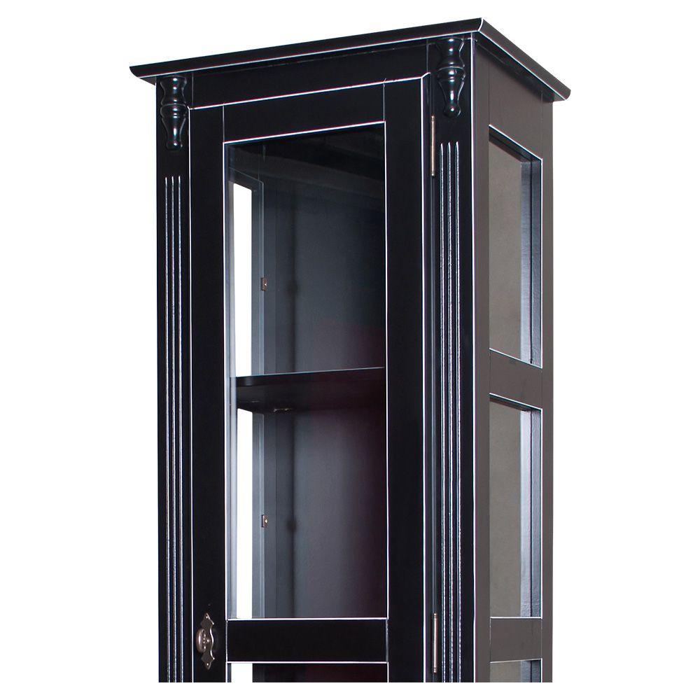 Cristaleira Torre Lateral 1 porta vidro 1 gaveta - M560110