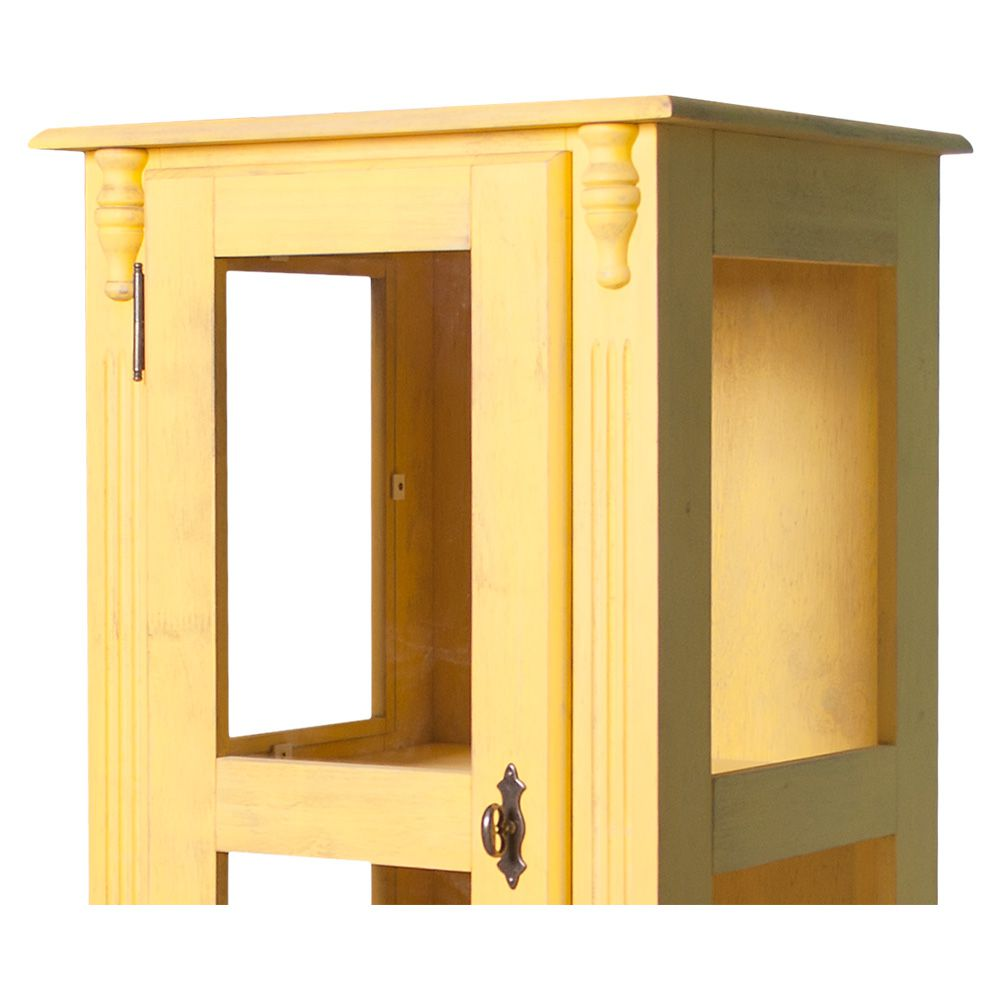 Cristaleira Torre Média Lateral 1 porta vidro 1 gaveta - M550112
