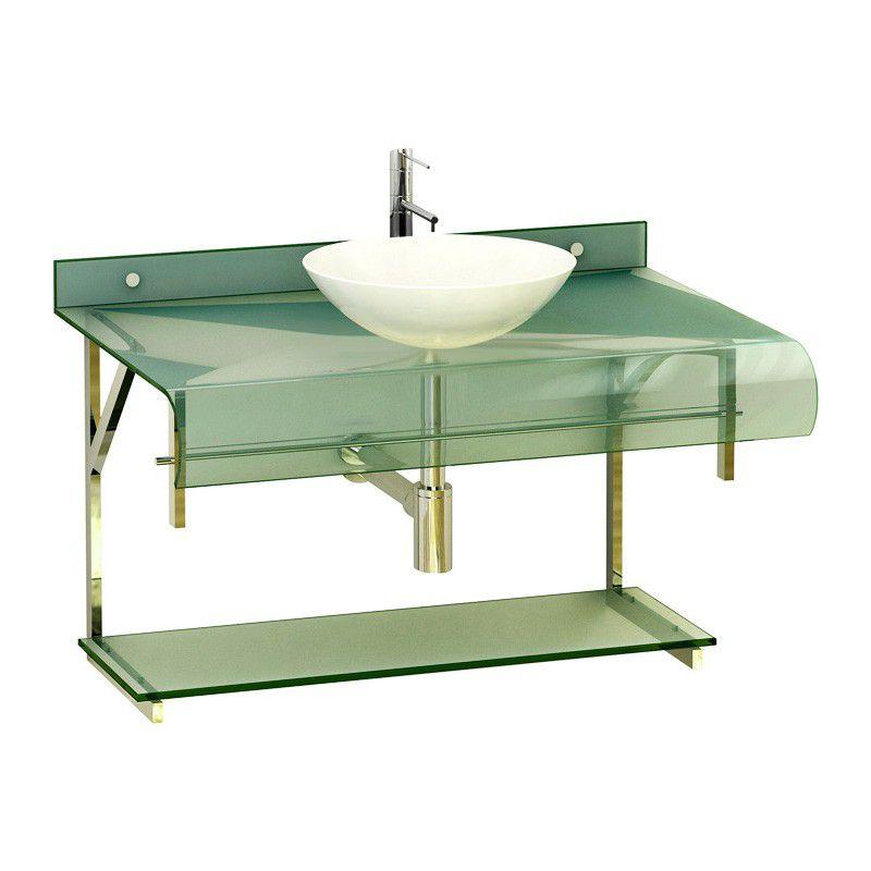 Gabinete de Vidro para Banheiro com Cuba Redonda - Lounge