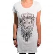 Camiseta Lion's Kingdom Bege Feminina - #REINODEPONTACABEÇA