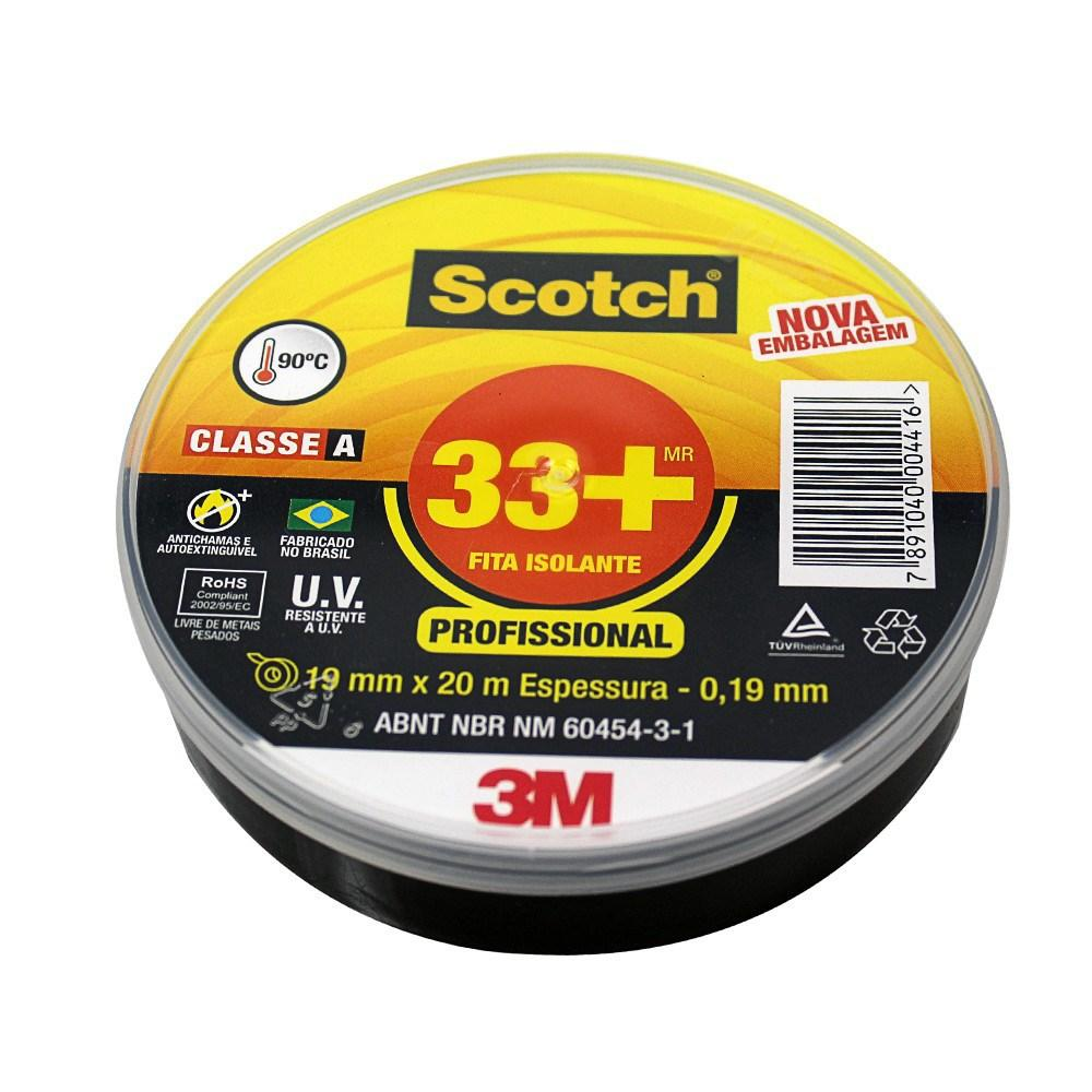 Fita Isolante Scotch 33+ 20 Metros 3M