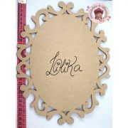 PLACA DECORATIVA OVAL 30 x 23