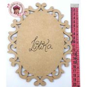 PLACA DECORATIVA OVAL 20 X 15