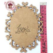 PLACA DECORATIVA OVAL 15 X 11