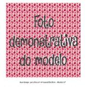 GUARDANAPO ARTESANAL - MODELO 67 - 18x18 cm
