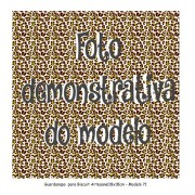 GUARDANAPO ARTESANAL - MODELO 71 - 18x18 cm