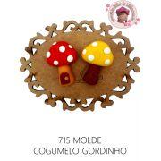 MOLDE COGUMELO GORDINHO