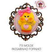 MOLDE PASSARINHO FOFINHO