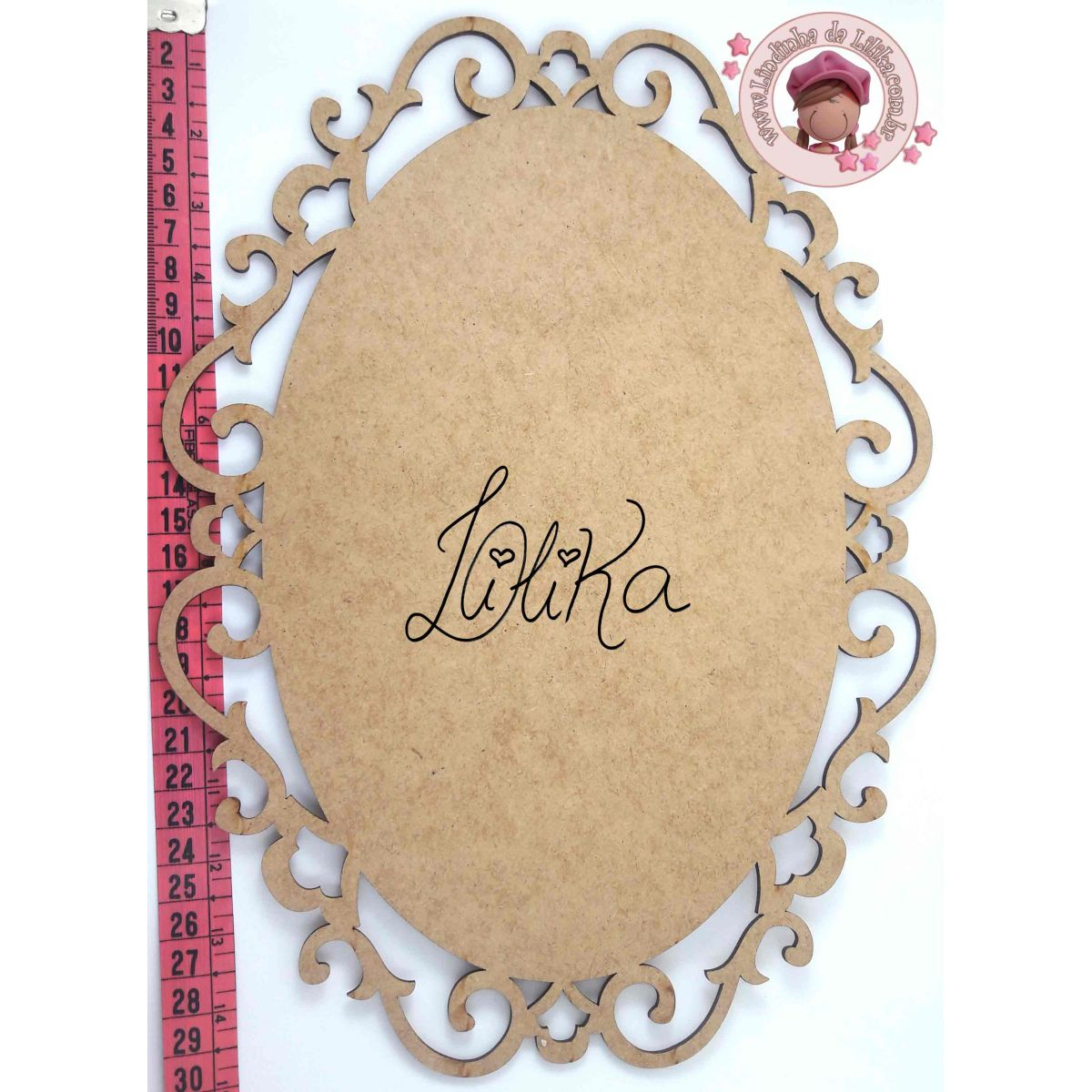 PLACA DECORATIVA OVAL