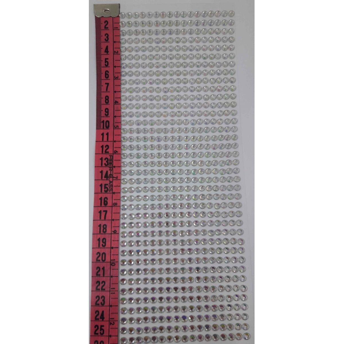 APLIQUE ADESIVO STRASS FURTA COR 4mm