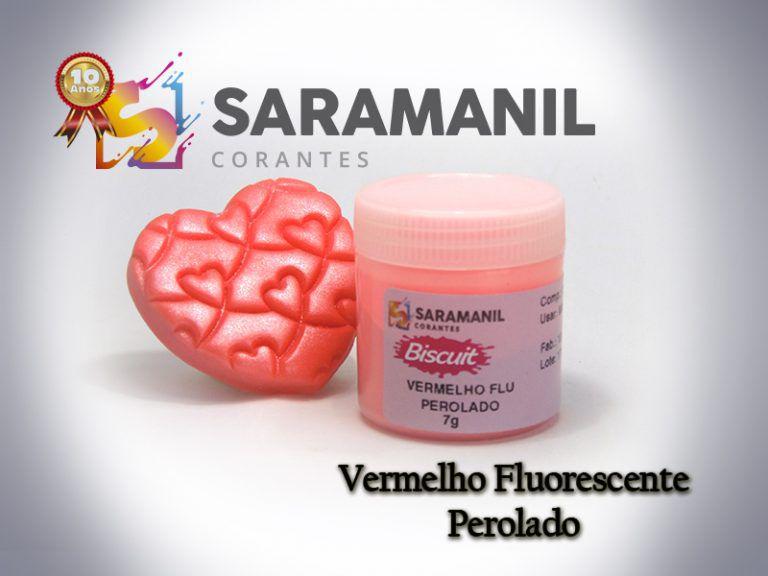 CORANTE EM PÓ VERMELHO FLU PEROLADO - 7G