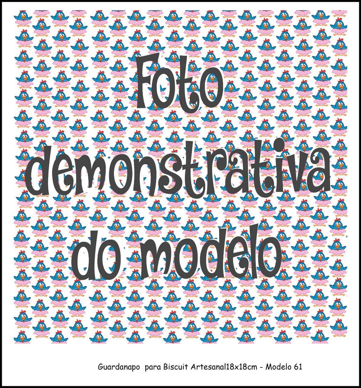 GUARDANAPO ARTESANAL - MODELO 61 - 18x18 cm