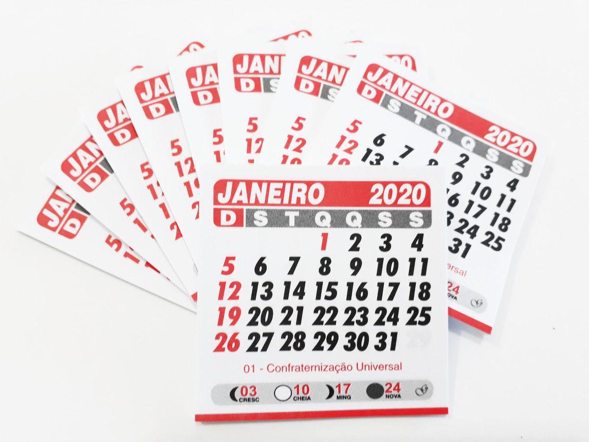 MINI CALENDÁRIO 2020 -  PCTE COM 50 BLOQUINHOS