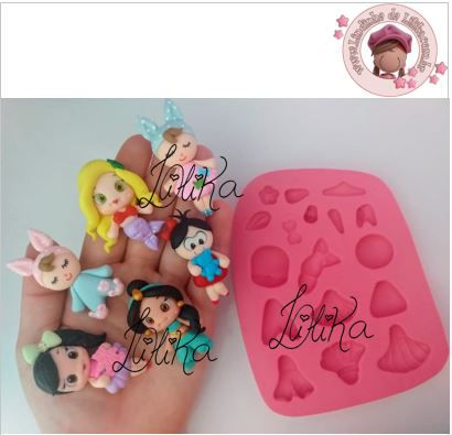 MOLDE MINI PRINCESINHAS CUTE