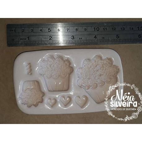 Muffins ou Cupcakes Trio - Kaká Artes