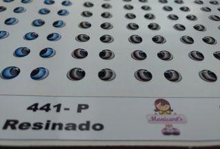 OLHOS ADESIVOS RESINADO 441 P