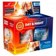 Kit Seca Abdomen - Day And Night 120 Caps - Thermo + Night Abdomen - Bodyaction