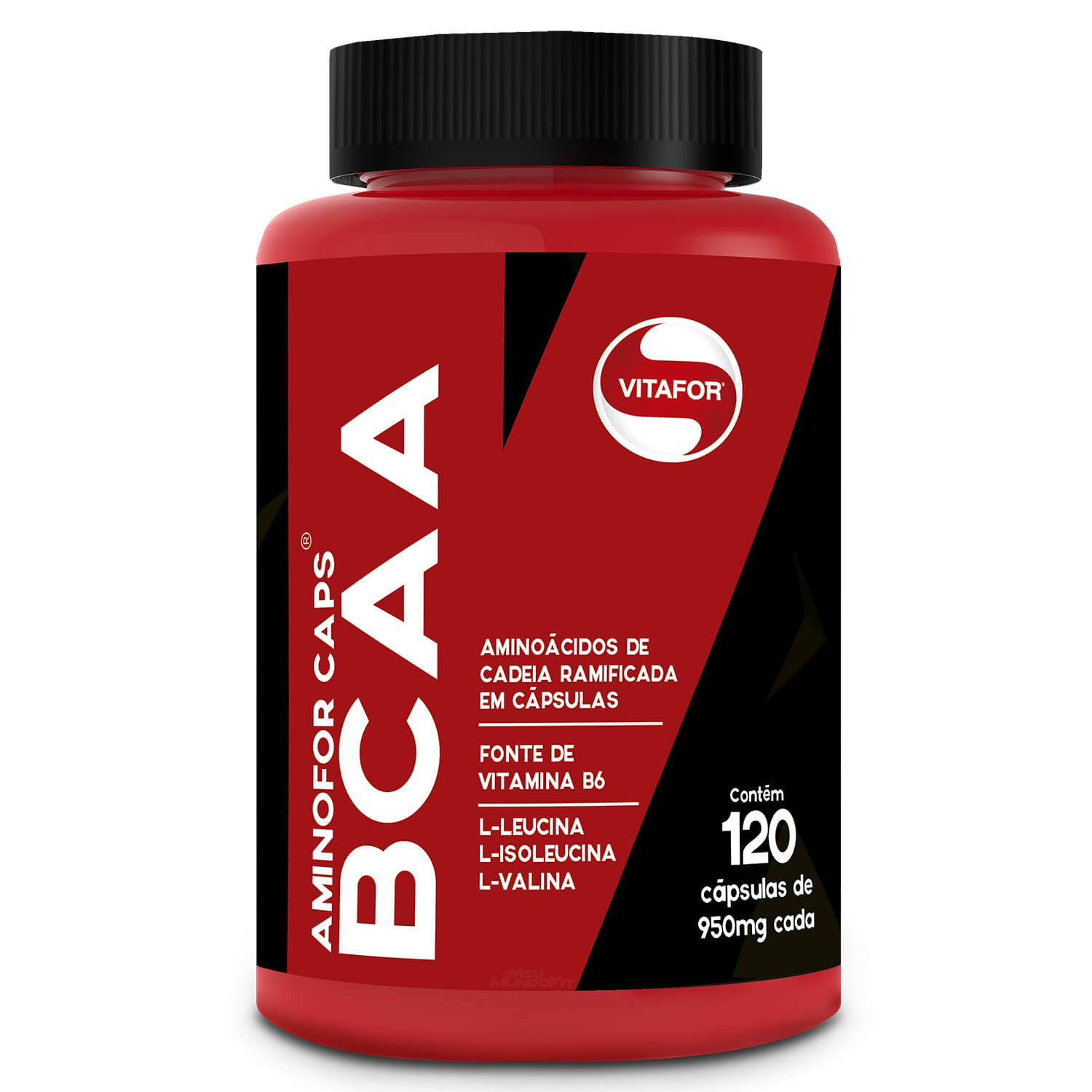72046be99 BCAA 950mg - 120 Cápsulas