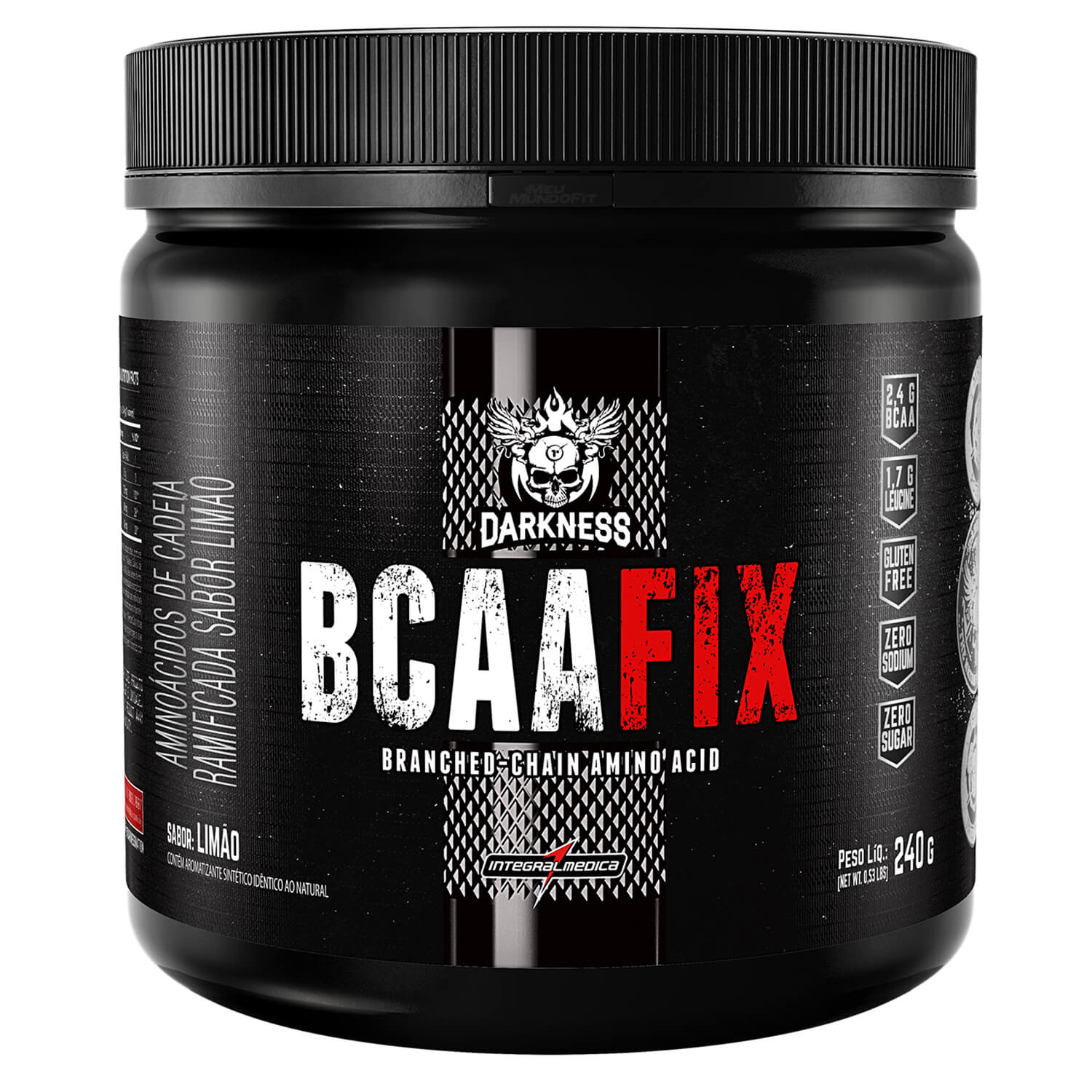 BCAA Fix Power Darkness 240G - Integral Médica