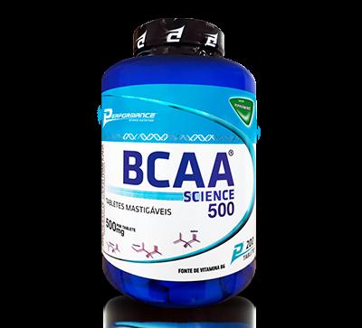 BCAA SCIENCE 500mg - 200 Tabletes Mastigáveis - Performance
