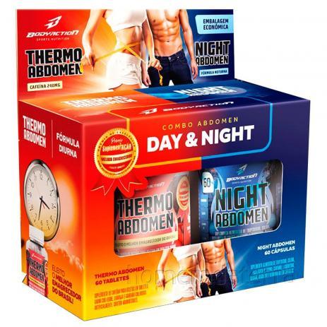 Kit Seca Abdomen - Day And Night 120 Caps - Thermo + Night Abdomen - Bodyaction