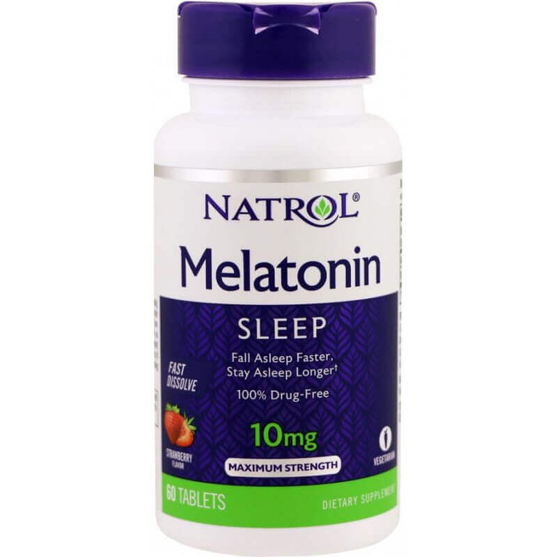 Melatonina Fast Dissolve 60 Tablets 10mg - Natrol