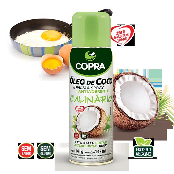 Óleo de coco e Palma Spray Antiaderente 147ml - COPRA