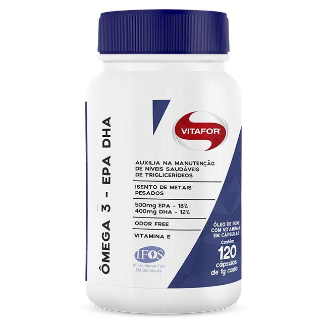 Ômega 3 - EPA DHA - 120 cápsulas - Vitafor