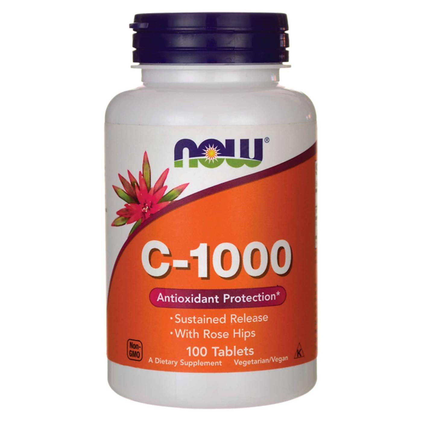 Vitamina C-1000 - NOW - 100 Tablets