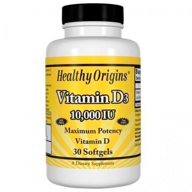 VITAMINA D3 10.000UI HEALTHY ORIGINS - 30 SOFTGELS