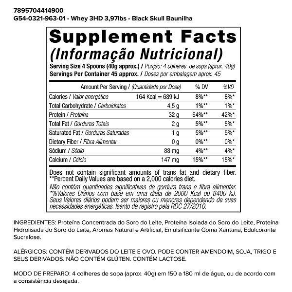 Whey Protein 3 HD - 1,8kg