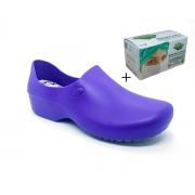 Sapato Antiderrapante Sticky Shoes  Azul Bic + Caixa Mascara Protdesc