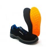 Sapato de Segurança Microfibra Preto Estival EN10021S2 Com CA + Palmilha Ergonomica