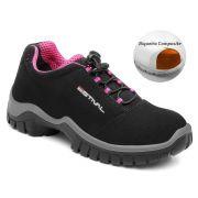 Sapato de Segurança Microfibra Preto Estival EN10023S2 CA 42554